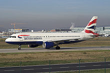British Airways A320-100.