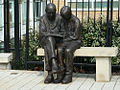 Bronze sculpture by Brian Alabaster ARBS outside Queen Mary's Hospital Roehampton.JPG