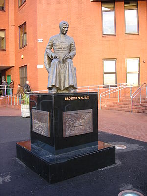 Kate Robinson (sculptor) - Statue of Brother Walfrid at Celtic Park
