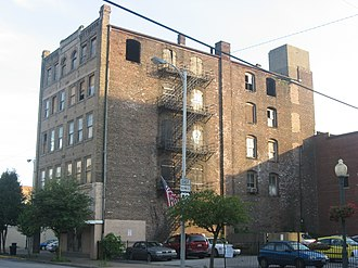 National Register of Historic Places listings in Lawrence County, Ohio - Image: Brumberg Building from north