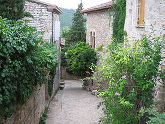 Bruniquel - The main road in Bruniquel