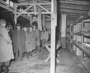 Buchenwald Trial - American congressmen visited Buchenwald on 24 April 1945.