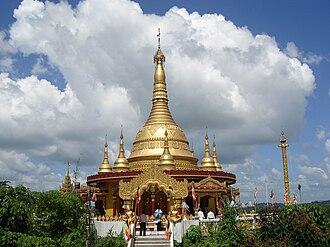 Buddhism in Bangladesh - Buddha Dhatu Zadi, a Buddhist temple in Bandarban