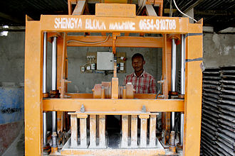 Brickworks - A brick-making machine in Tanzania