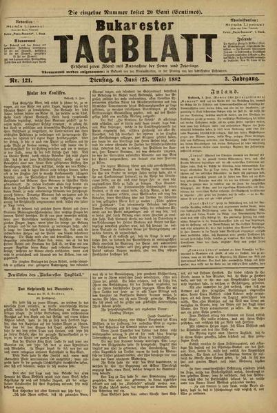 File:Bukarester Tagblatt 1882-06-06, nr. 121.pdf