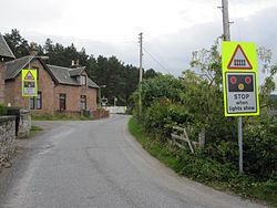 Bunchrew Level Crossing with new barriers (9572117738).jpg