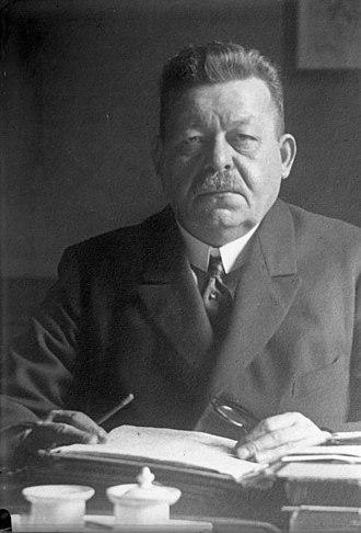Ebert–Groener pact - Friedrich Ebert in 1925.