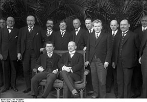 Augustinas Voldemaras - Augustinas Voldemaras (sitting on the left) and Gustav Stresemann in Berlin (1928)