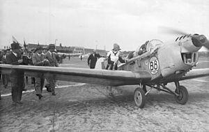 Klemm Kl 25 - L 25E during the Europa Rundflug 1930 (pilot Reinhold Poss)