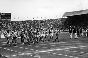 1948 in sports - Start of the 50 km walk at the London Olympics