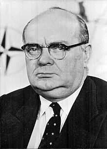 Paul-Henri Spaak, en 1957.