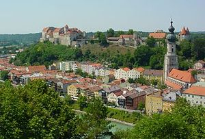 Burghausen, Altötting - View of the city