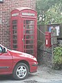Burleston, postbox No. DT2 174 and phone box - geograph.org.uk - 983919.jpg