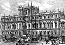Image of Burlington House, London, in 1873