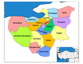 Districts de la province de Bursa