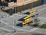 Buses seen from Christiansborg Palace 01.JPG