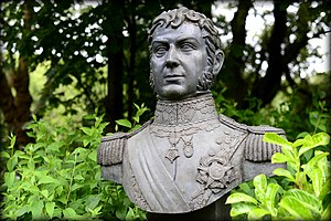 Bernardo O'Higgins - Bust of Bernardo O' Higgins, Merrion Square Park, Dublin, Republic of Ireland.