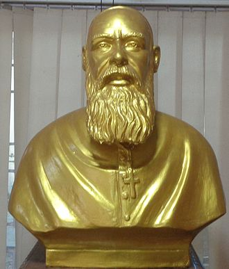 Louis Mathias - Bust of Archbishop Louis Mathias at Santhome Museum
