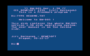 The BW-DOS TYPE command