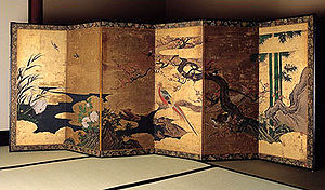 Byōbu - A six-panel byōbu from the 17th century