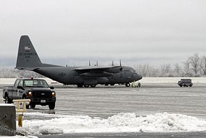 Rosecrans Air National Guard Base - Image: C 130H Missouri ANG at St Joseph 2007