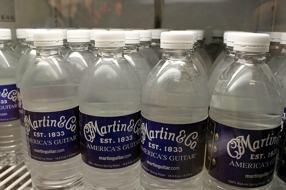 C.F. Martin & Co. 100% Natural Spring Water 16.9 fl.oz. (.5 Liter) bottles - C.F. Martin Guitar Factory 2012-08-06 - 151