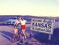 C. Erik Ridderstedt Family at Kansas border 1954.jpg