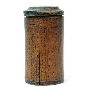 Batak alphabet - Image: COLLECTIE TROPENMUSEUM Bamboe tabaks en wichelkoker met Bataks schrift T Mnr 512 4
