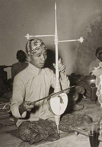 Rebab - K.P.H. Notoprojo, famous Indonesian rebab player