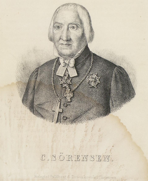 Christian Sørenssen - Lithograph of Christian Sørenssen