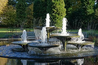 Cambridge University Botanic Garden - Image: CUBG fountain
