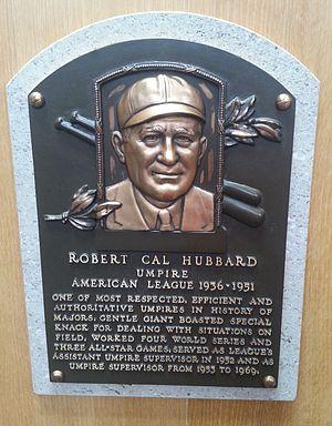 Cal Hubbard - Image: Cal Hubbard plaque