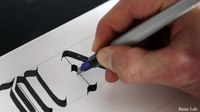 File:Calligraphy Alphabet Tutorial - Gothic Upper Case Letters for Beginners.webm