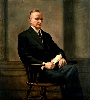 English: Calvin Coolidge. 30th President of th...