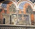 Camera della castellana di vergy, ciclo pittorico, 1350 circa 13,1.JPG