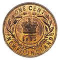 Canada Newfoundland Victoria Cent 1885 (rev).jpg