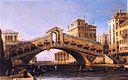 Каприччио моста Риальто с лагуной за его пределами