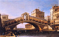 Canaletto - Capriccio of the Rialto Bridge with the Lagoon Beyond.JPG