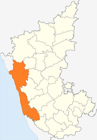 Kanara - Canara region shown in orange