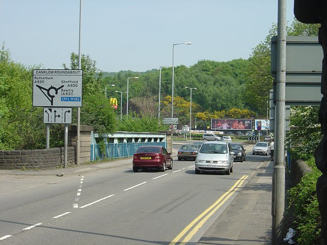Canklow Bridge looking east - geograph.org.uk - 799192