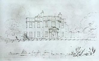 Cannon Hill Common - Drawing of Cannon Hill House, 1893.