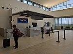 Cape Air ticket counter at MWA airport.jpg