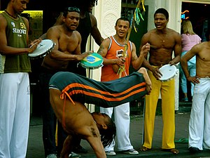 Capoeirista callejero en Brasil