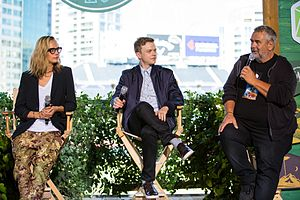 Valerian and the City of a Thousand Planets - Delevingne, DeHaan and Besson at the San Diego Comic-Con 2016 presentation of Valerian and the City of a Thousand Planets, at Camp Conival