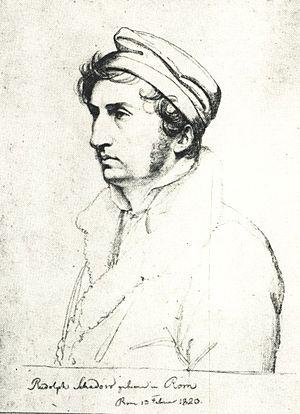 Rudolph Schadow - Drawing by Carl Christian Vogel von Vogelstein, 1820