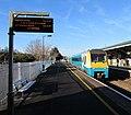 Carmarthen train leaving Llanelli station - geograph.org.uk - 6324024.jpg
