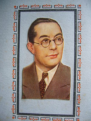 Carroll Gibbons - Image of Gibbons from the W.D. & H.O. Wills  Radio Celebrities cigarette card series