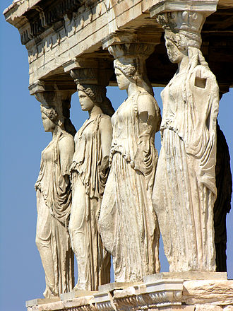 Diogenes of Athens (sculptor) - Caryatids of the Erechtheion in Athens, possible models for those of Diogenes for the Pantheon in Rome