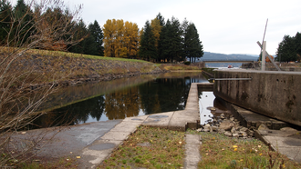 Cascade Locks and Canal - Remnants of the locks as of 2011