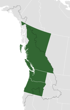 Proposed boundaries in respect to current political territorial entities (Washington, Oregon and British Columbia).